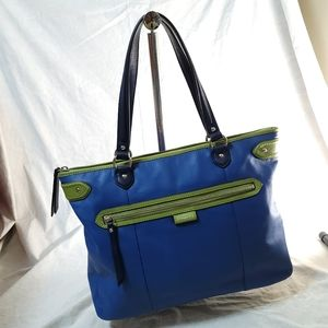NWOT Coach Smooth Leather color block Tote